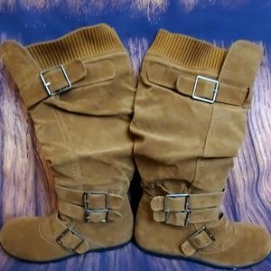 Anna womens buckle 4 multi straps boot